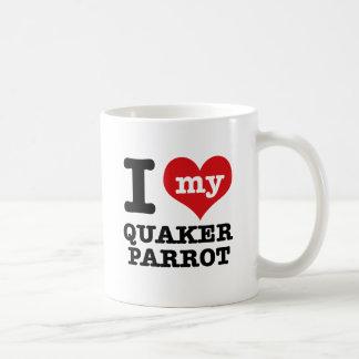 Mug J'aime le perroquet de quaker