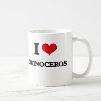 Mug J'aime le rhinocéros