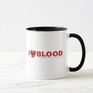 Mug J'aime le sang avec la batte de vampire