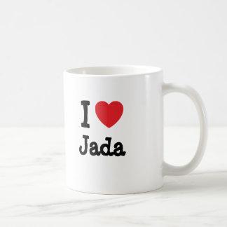 Mug J'aime le T-shirt de coeur de Jada