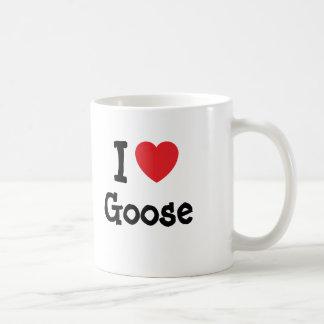 Mug J'aime le T-shirt de coeur d'oie