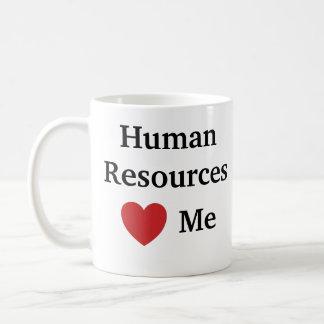 Mug J'aime les ressources humaines m'aime heure drôle
