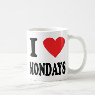 Mug J'aime l'icône de lundi