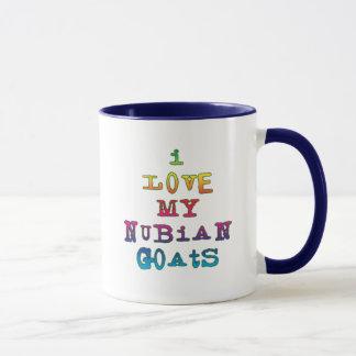 Mug J'aime mes chèvres de Nubian