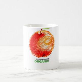 Mug J'aime mes pommes organiques