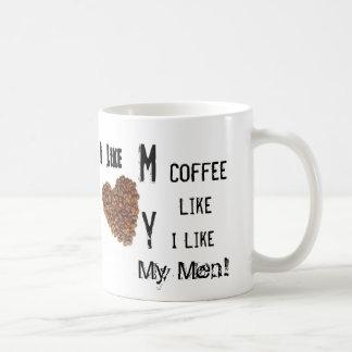 Mug J'aime mon café comme j'aime mes hommes