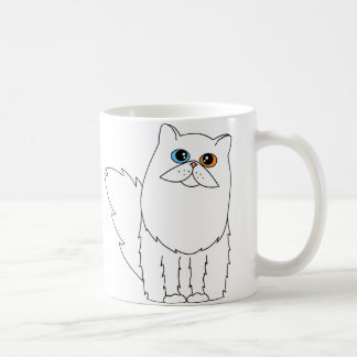 Mug J'aime mon chat persan avec les yeux impairs