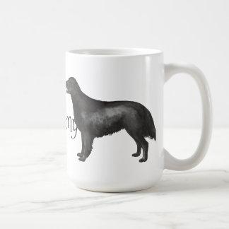 Mug J'aime mon chien d'arrêt Plat-Enduit