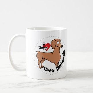 Mug J'aime mon chien drôle et mignon adorable heureux