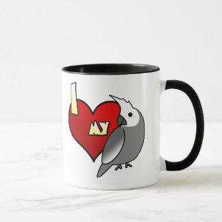 Mug J'aime mon Cockatiel de Whiteface