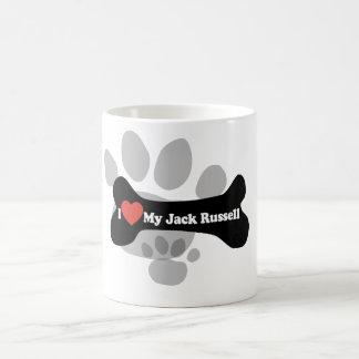 Mug J'aime mon Jack Russell - os de chien