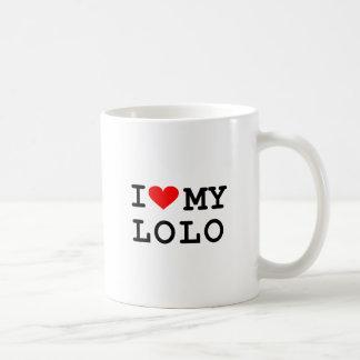 Mug J'aime mon lolo. C'est plus d'amusement aux