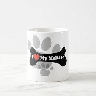 Mug J'aime mon maltais - os de chien