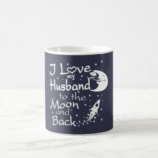 Mug J'aime mon mari à la lune et au dos