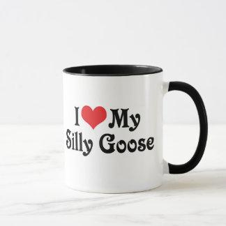 Mug J'aime mon oie idiote