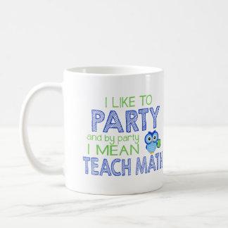 Mug J'aime Party (enseignez les maths)