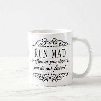 Mug Jane Austen : La course folle/ne s'évanouissent