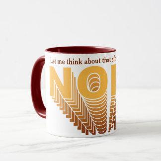 Mug Jaune/Brown Nope superbe