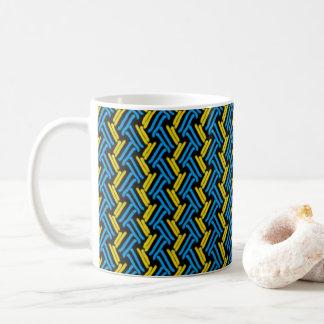 Mug Jaune et motif tribal de Chevron de turquoise