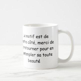 "Mug ""Je bois la vie en rose"" (main gauche)"
