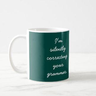 Mug Je corrige silencieusement votre grammaire