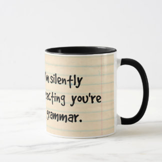 Mug Je corrige silencieusement votre hibou sage de
