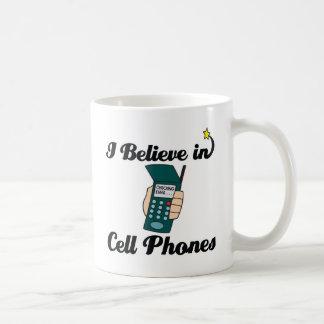 Mug je crois aux téléphones portables