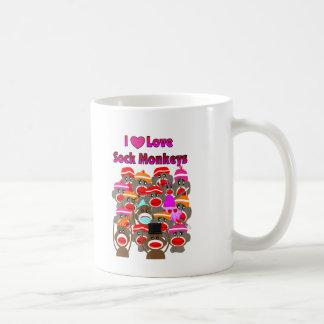 """Mug """"JE des cadeaux AIME de CHAUSSETTE SINGES   """""""