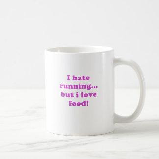 Mug Je déteste courir mais j'aime la nourriture