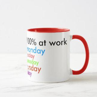 Mug Je donne toujours 100% au travail !