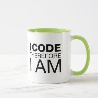 Mug Je me code par conséquent suis