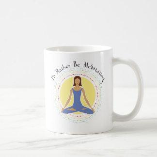 Mug Je méditerais plutôt - femme