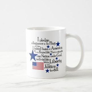 Mug Je mets en gage l'allégeance au drapeau du uni
