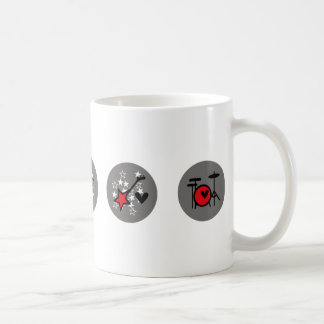 """Mug """"Je musique rock de coeur """""""