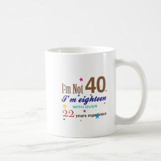 Mug Je n'ai pas 40 ans - cadeau d'anniversaire drôle