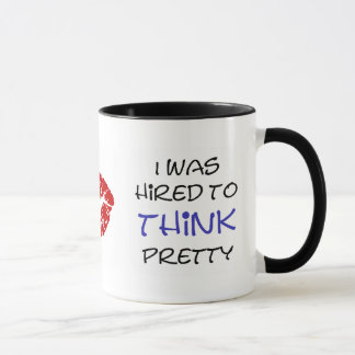 Mug Je n'ai pas été engagé pour mes regards…