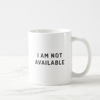 Mug Je ne suis pas disponible