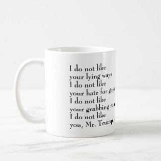 Mug Je ne vous aime pas M. Trump