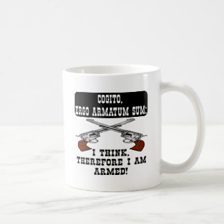 Mug Je pense que par conséquent je suis armé