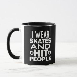 Mug Je porte des raies et des personnes de coup,