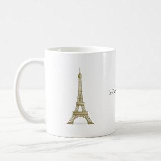 Mug Je serais plutôt en point de repère de Tour Eiffel
