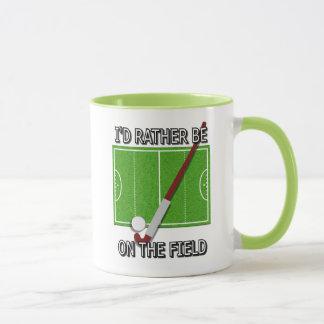 Mug Je serais plutôt sur le champ (l'hockey)