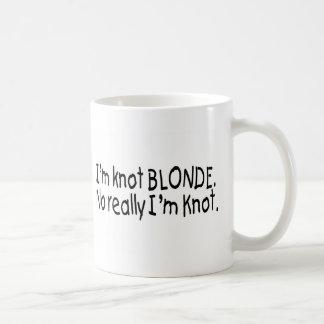 Mug Je suis blonde de noeud vraiment que je suis noeud