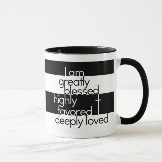 Mug Je suis considérablement béni, fortement favorisé,