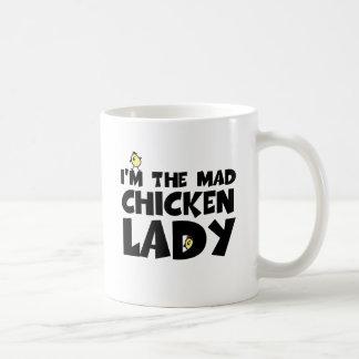 Mug Je suis la dame folle de poulet