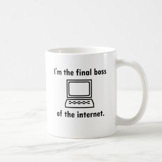 Mug Je suis le patron final de l'Internet