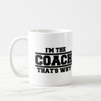 Mug Je suis l'entraîneur qui est pourquoi