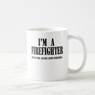 Mug Je suis un noir de sapeur-pompier
