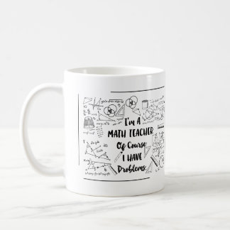 Mug Je suis un professeur de maths naturellement que