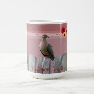 Mug Je t'aime colombe d'amour